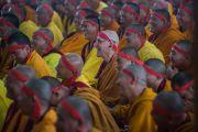 Посвящение Гухьясамаджи в монастыре Гьюдмед принимали более 10 тысяч монахов и монахинь. Хунсур, штат Карнатака, Индия. 11 декабря 2015 г. Фото: Тензин Чойджор (офис ЕСДЛ)