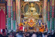 Его Святейшество Далай-лама дарует учения в монастыре Ташилунпо. Билакуппе, штат Карнатака, Индия. 19 декабря 2015 г. Фото: Тензин Чойджор (офис ЕСДЛ)