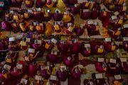 Некоторые из более 22 тысяч монахов и монахинь на учениях Его Святейшества Далай-ламы по 18 коренным текстам и комментариям традиции Ламрим в монастыре Ташилунпо. Билакуппе, штат Карнатака, Индия. 23 декабря 2015 г. Фото: Тензин Чойджор (офис ЕСДЛ)