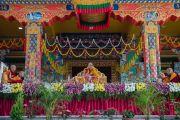 Заключительный день учений Его Святейшества Далай-ламы в монастыре Ташилунпо. Билакуппе, штат Карнатака, Индия. 28 декабря 2015 г. Фото: Тензин Чойджор (офис ЕСДЛ)