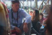 Некоторые из более 3 тысяч иностранных паломников, приехавших на учения Его Святейшества Далай-ламы в монастырь Ташилунпо. Билакуппе, штат Карнатака, Индия. 28 декабря 2015 г. Фото: Тензин Чойджор (офис ЕСДЛ)