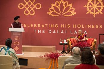 Торжество в Дели в честь прошедшего 80-летия Далай-ламы