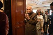 Шри Л. К. Адвани, бывший заместитель премьер-министра Индии, на встрече в гостинице Оберой в честь прошедшего 80-летия Его Святейшества Далай-ламы. Дели, Индия. 4 января 2016 г. Фото: Тензин Чойджор (офис ЕСДЛ)