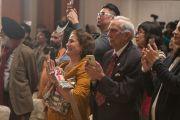 В зале гостиницы Оберой во время встречи, посвященной прошедшему 80-летию Его Святейшества Далай-ламы. Дели, Индия. 4 января 2016 г. Фото: Тензин Чойджор (офис ЕСДЛ)