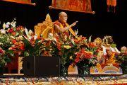 Его Святейшество Далай-лама дарует учения в конференц-центре Миннеаполиса по просьбе местного тибетского сообщества. Миннеаполис, штат Миннесота, США. 21 февраля 2016 г. Фото: Джереми Рассел (офис ЕСДЛ)