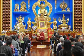 Его Святейшество Далай-лама прочел публичную лекцию в буддийском центре «Олений парк»