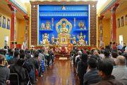 """Его Святейшество Далай-лама читает лекцию в храме буддийского центра """"Олений парк"""". Орегон, штат Висконсин, США. 6 марта 2016 г. Фото: Шераб Лхацанг"""