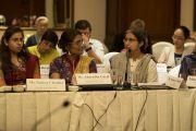Учителя делийских школ рассказывают об опыте внедрения пробных программ изучения светской этики. Дели, Индия. 7 апреля 2016 г. Фото: Тензин Чойджор (офис ЕСДЛ)