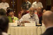 Профессор Парасенарамам делится своими мыслями во время второй сессии конференции по вопросам внедрения в школьную программу изучения светской этики. Дели, Индия. 7 апреля 2016 г. Фото: Тензин Чойджор (офис ЕСДЛ)