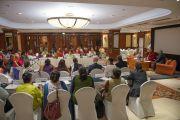 Зал в гостинице Шератон, в котором проводилась конференция по вопросам внедрения в школьную программу изучения светской этики. Дели, Индия. 7 апреля 2016 г. Фото: Тензин Чойджор (офис ЕСДЛ)