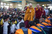 Его Святейшество Далай-лама в колледже высшей тибетологии в Сара. Дхарамсала, Индия. 26 апреля 2016 г. Фото: Тензин Чойджор (офис ЕСДЛ)
