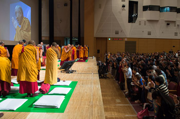 В Осаке Далай-лама продолжил даровать учения по поэме Шантидевы «Путь бодхисаттвы»