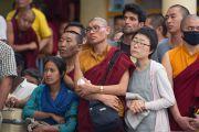 Во время торжественной церемонии приведения к присяге сикьонга Лобсанга Сенге. Дхарамсала, Индия. 27 мая 2016 г. Фото: Тензин Чойджор (офис ЕСДЛ)