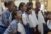 Второй день ежегодных учений для юных тибетцев