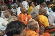 Слушатели во время первого дня трехдневных учений по поэме «Бодхичарья-аватара». Дхарамсала, Индия. 7 июня 2016 г. Фото: Тензин Чойджор (офис ЕСДЛ)