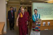 Его Святейшество Далай-лама направляется на мероприятия Национального фонда демократии. Вашингтон, округ Колумбия, США. 15 июня 2016 г. Фото: Скотт Хенриксен