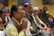 Члены Тибетской ассоциации штата Юта слушают наставления Его Святейшества Далай-ламы. Солт-Лейк-Сити, штат Юта, США. 22 июня 2016 г. Фото: Джереми Рассел (офис ЕСДЛ)
