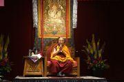Его Святейшество Далай-лама дарует наставления членам Тибетской ассоциации штата Юта. Солт-Лейк-Сити, штат Юта, США. 22 июня 2016 г. Фото: Джереми Рассел (офис ЕСДЛ)