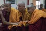 Церемония дарования полных монашеских обетов в храме Дрепунг Лачи