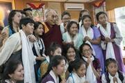 Встреча с тибетскими школьниками из Северной Америки и Европы