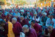 На праздновании дня рождения Гуру Падмасамбхавы в монастыре Оргье Херука на озере Цо-Пема. Ревалсар, штат Химачал Прадеш, Индия. 14 июля 2016 г. Фото: Тензин Пхунцок (офис ЕСДЛ)