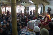 Его Святейшество Далай-лама обращается к собравшимся в мечети суннитов. Ле, Ладак, штат Джамму и Кашмир, Индия. 27 июля 2016. Фото: Тензин Чойджор (офис ЕСДЛ)