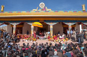 Далай-лама посетил монастырь Дактхок в Ладаке