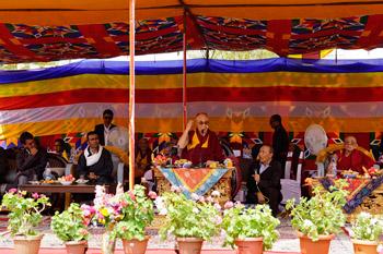 В Шивацель состоялся прощальный обед в честь Далай-ламы