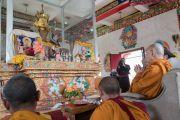 Его Святейшество Далай-лама возглавляет ритуал в монастыре Зангдок Палри. Ладак, штат Джамму и Кашмир, Индия. 7 августа 2016 г. Фото: Тензин Чойджор (офис ЕСДЛ)