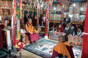 Его Святейшество Далай-лама во время визита в монастырь Сток. Сток, Ладак, штат Джамму и Кашмир, Индия. 8 августа 2016 г. Фото: Тензин Чойджор (офис ЕСДЛ)