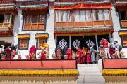 Его Святейшество Далай-лама прибывает в монастырь Сток. Сток, Ладак, штат Джамму и Кашмир, Индия. 8 августа 2016 г. Фото: Тензин Чойджор (офис ЕСДЛ)