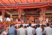 Его Святейшество Далай-лама во время второго дня двухдневных учений в Тикси. Ладак, штат Джамму и Кашмир, Индия. 11 августа 2016 г. Фото: Тензин Чойджор (офис ЕСДЛ)