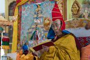 Его Святейшество Далай-лама во время церемонии подношения молебна о долгой жизни в его резиденции Шивацель Пходранг в Чогламсаре. Ладак, штат Джамму и Кашмир, Индия. 13 августа 2016 г. Фото: Тензин Чойджор (офис ЕСДЛ)