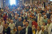 Его Святейшество Далай-лама фотографируется с участниками 7-й Международной конференции групп поддержки Тибета. Брюссель, Бельгия. 8 сентября 2016 г. Фото: Джереми Рассел (офис ЕСДЛ)
