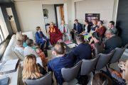 Встреча Его Святейшества Далай-ламы с членами группы поддержки Тибета при Европейском парламенте. Брюссель, Бельгия. 8 сентября 2016 г. Фото: Оливье Адам