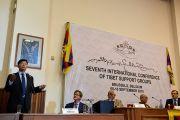 Сикьонг (глава Центральной тибетской администрации) Лобсанг Сенге обращается к собравшимся во время открытия 7-й Международной конференции групп поддержки Тибета. Брюссель, Бельгия. 8 сентября 2016 г. Фото: Оливье Адам
