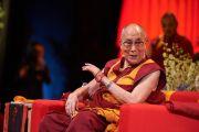 Его Святейшество Далай-лама дарует учения по сочинению Нагарджуны «Толкование бодхичитты». Страсбург, Франция. 17 сентября 2016 г. Фото: Оливье Адам