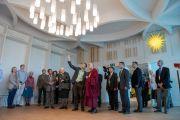 Его Святейшество Далай-лама посещает христианскую часовню во время визита в Дом религий. Берн, Швейцария. 12 октября 2016 г. Фото: Мануэль Бауэр