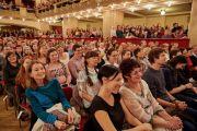 Слушатели во время публичной лекции Его Святейшества Далай-ламы во дворце Люцерна. Прага, Чехия. 19 октября 2016 г. Фото: Оливье Адам