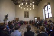 Во время встречи Его Святейшества Далай-ламы с кардиналом Милана Анджело Сколой. Милан, Италия. 20 октября 2016 г. Фото: Тензин Чойджор (офис ЕСДЛ)