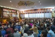 Его Святейшество Далай-лама обращается к собравшимся в институте изучения тибетского буддизма «Гепелинг». Милан, Италия. 20 октября 2016 г. Фото: Тензин Чойджор (офис ЕСДЛ)