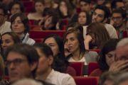 Слушатели во время лекции Его Святейшества Далай-ламы для студентов Миланского университета Бикокка. Милан, Италия. 20 октября 2016 г. Фото: Тензин Чойджор (офис ЕСДЛ)