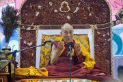 Его Святейшество Далай-лама во время утренней сессии учений по сочинениям Чже Цонкапы. Улан-Батор, Монголия. 20 ноября 2016 г. Фото: Игорь Янчеглов (фонд «Сохраним Тибет»)
