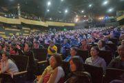 Аудитория во время международной конференции «Буддизм и наука», в которой принял участие Его Святейшество Далай-лама. Улан-Батор, Монголия. 21 ноября 2016 г. Фото: Игорь Янчеглов (фонд «Сохраним Тибет»)