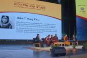 Его Святейшество Далай-лама и другие участники утренней сессии международной конференции «Буддизм и наука». Улан-Батор, Монголия. 21 ноября 2016 г. Фото: Игорь Янчеглов (фонд «Сохраним Тибет»)