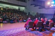 Вид на зал во время лекции Его Святейшества Далай-ламы об общечеловеческих ценностях и буддизме в 21 веке. Улан-Батор, Монголия. 22 ноября 2016 г. Фото: Тензин Такла (офис ЕСДЛ)