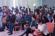Журналисты монгольских СМИ во время пресс-конференции Его Святейшества Далай-ламы. Улан-Батор, Монголия. 23 ноября 2016 г. Фото: Тензин Такла (офис ЕСДЛ)