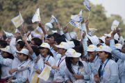 Некоторые из более чем 5000 школьников на торжественной церемонии, посвященной началу кампании «Сто миллионов для ста миллионов» в президентском дворце Раштрапати Бхаван. Дели, Индия. 11 декабря 2016 г. Фото: Тензин Чойджор (офис ЕСДЛ)