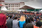 Вид на сцену во время торжественной церемонии открытия Института высшего образования под эгидой Далай-ламы. Бангалор, штат Карнатака, Индия. 14 декабря 2016 г. Фото: Тензин Чойджор (офис ЕСДЛ)