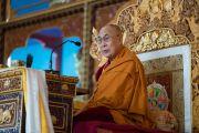 Его Святейшество Далай-лама в монастыре Деянг. Мундгод, штат Карнатака, Индия. 17 декабря 2016 г. Фото: Тензин Чойджор (офис ЕСДЛ)